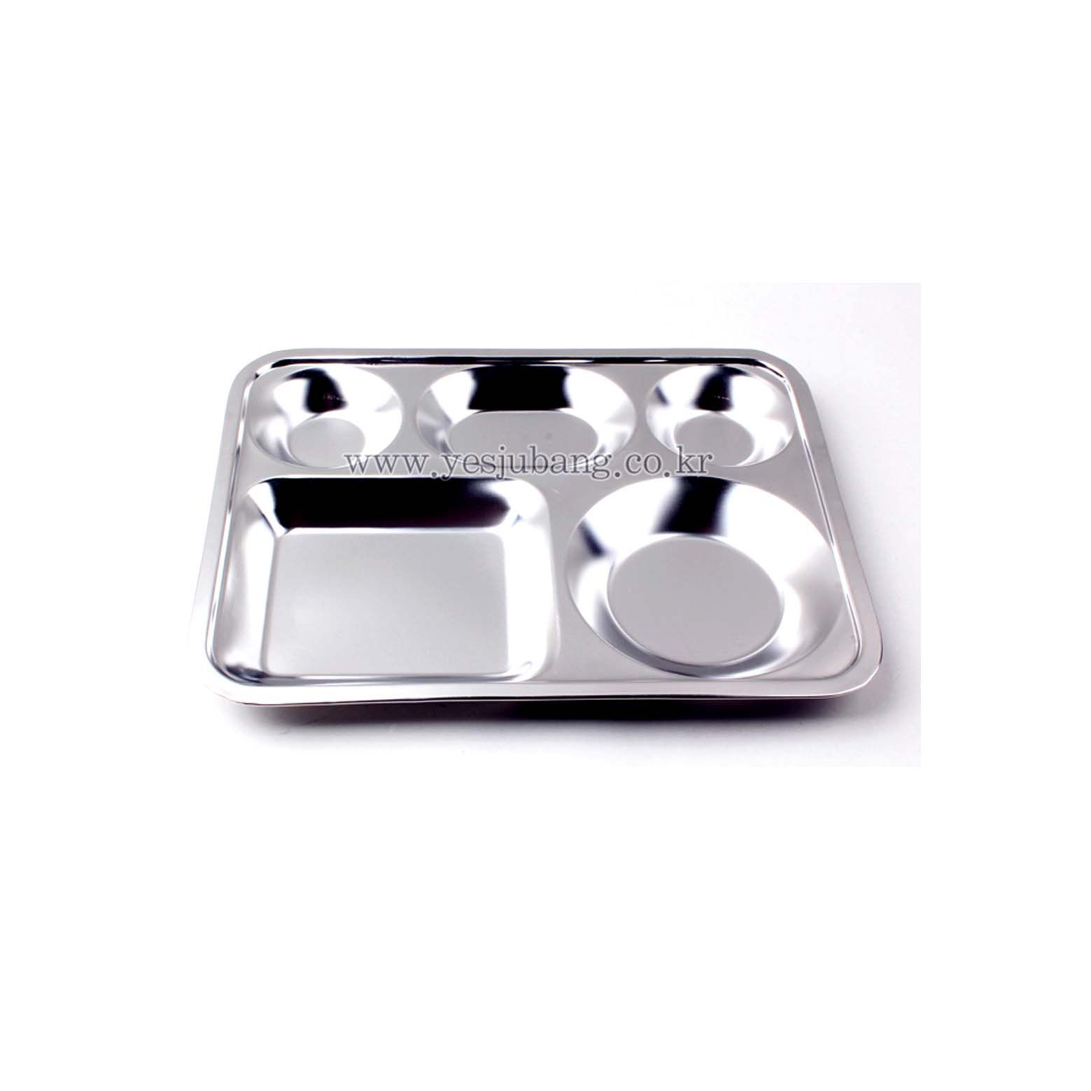Large 5 Divided Stainless Steel Food Tray For Adult Diet