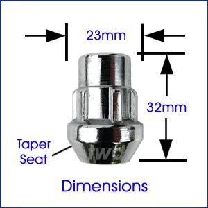 Dimensions of lock nut