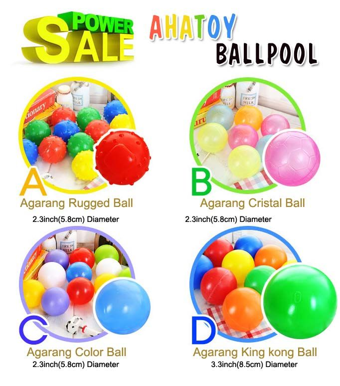 Toxic anti bacterial soft multi colored pit balls toy balls baby kid