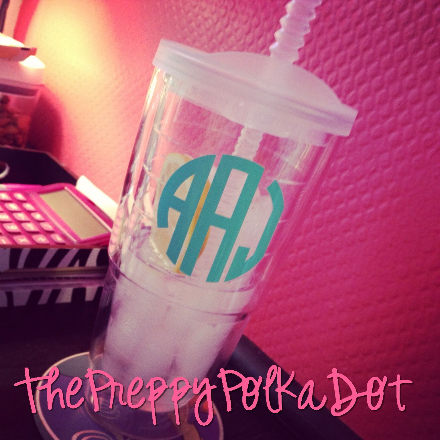 3&quot; Monogram Decal Sticker