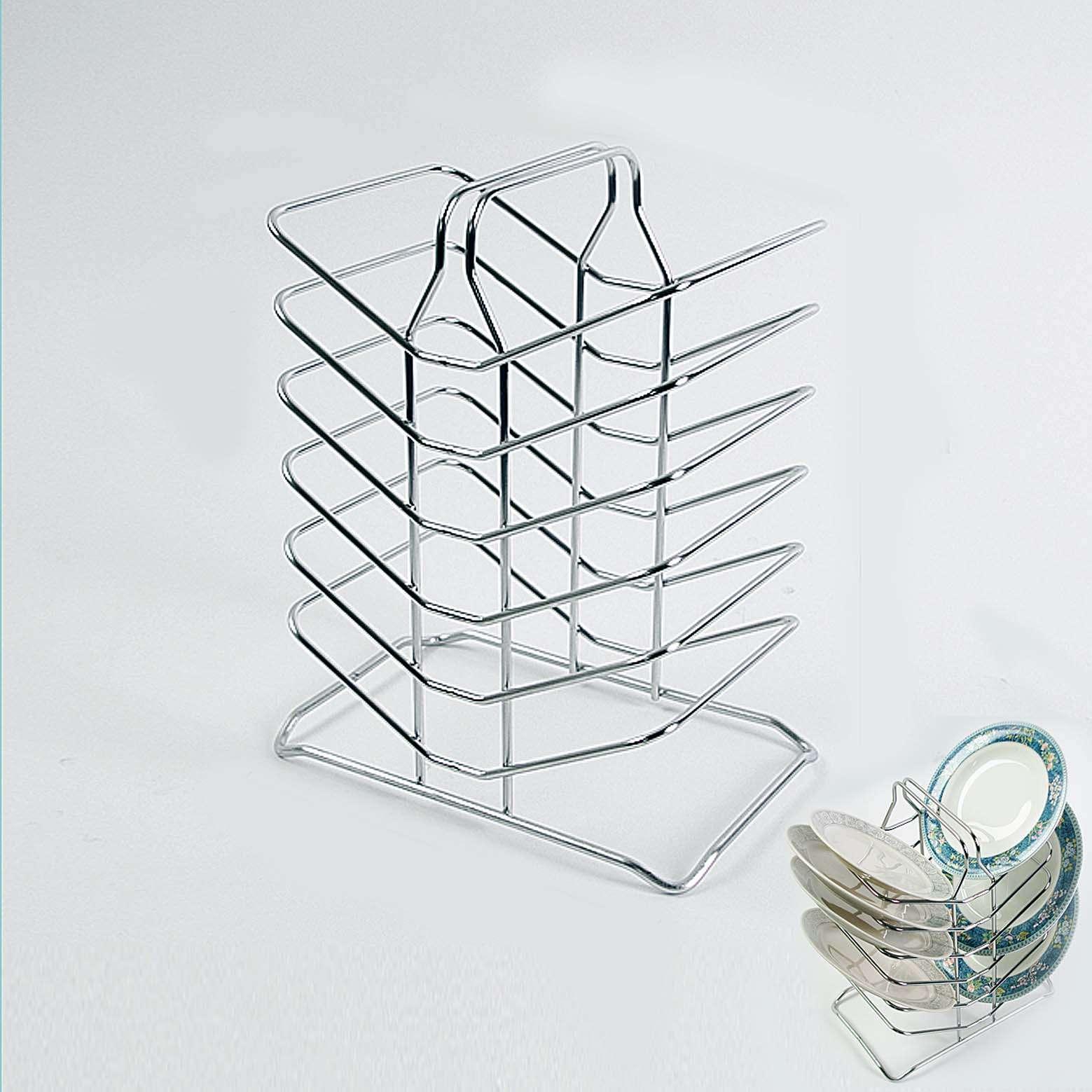 Stainless steel wire three stepped shelf kitchen organizer sink drying board ebay - Kitchen sink drying rack ...